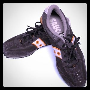 Saucony brown running shoe